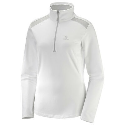 Salomon - Discovery LT HZ Women - white - Damen Fleecepullover