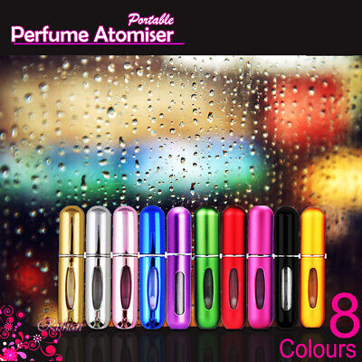 Perfume Atomiser Travel Portable Mini Refillable Bottle Scent Pump Spray 8Colour
