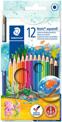 STAEDTLER Aquarellstift Noris Club aquarell 12er Kartonetui + 1 Pinsel
