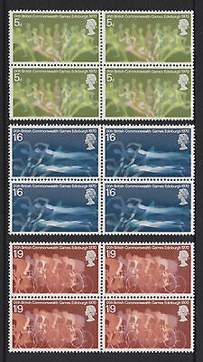 1970 Commonwealth Games Set Of 4 Sg832/834 In Blocks Of 4 U/mint