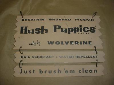 Vintage Hush Puppies By Wolverine Boot Advertising Hanging Double Sided Sign
