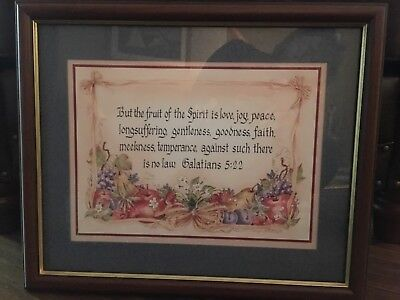 "Home Interiors ""Fruit of the Spirit"" framed picture , EUC"