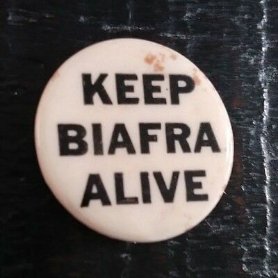 Keep Biafra Alive Nigeria Civil War Africa Late 1960S Collectible Button Pin