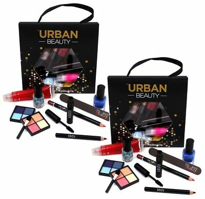 Lucky Dip Make Up Bag Set Beauty Cosmetic Eye Shadow Blusher Lipstick Eyes Lip