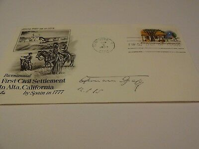 Rare Cover signed by Luftwaffe Fighter Ace Hermann Graf