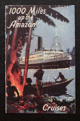 Booth Line Rare Postcard Advertising Leaflet 1000 Miles Up The Amazon Cruises