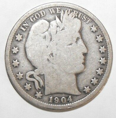1904 Barber Half Dollar, Circulated and ungraded