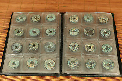 Rare 120 Piece coins Chinese Ming Dynasty Bronze Coin Statue Art Exchange Good