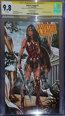 Justice League 1 CGC SS 9.8 Brooks Variant A sign by Mark Brooks & Scott Snyder