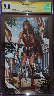 Justice League 1 CGC SS 9.8 Brooks Variant C sign by Mark Brooks & Scott Snyder