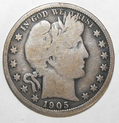 1905-O Barber Half Dollar, Circulated and ungraded