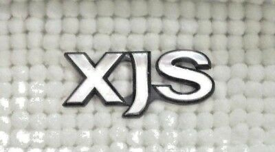 Jaguar XJS Letters Silver Black Emblem Badge Rear Boot Trunk Old Classic 70x32mm
