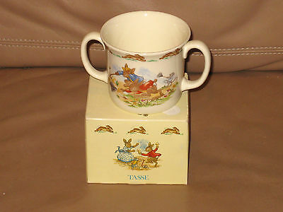 Royal Doulton BUNNYKINS 2 Handled Cup NEW IN BOX Wind Storm