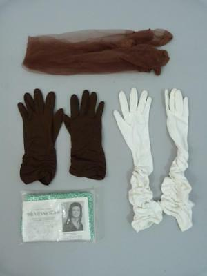 Collection of 1950s gloves, stockings and scarves