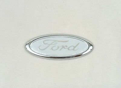 Ford Fiesta Mondeo Sierra Transit White Badge Emblem Rear Boot Trunk 115*45mm