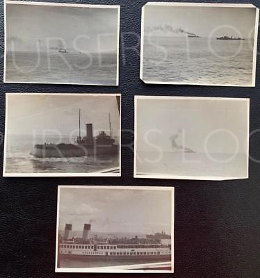 Cunard White Star Line Rms Hmt Lancastria 5X Original Real Photos Of Her Sinking