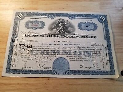 Vintage Bond Stories Incorporated Share Certificate 1946