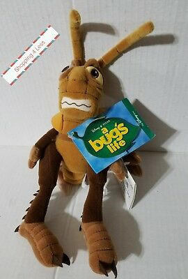 "The DISNEY STORE  A BUG'S LIFE HOPPER 8"" Plush Bean Bag Toy New with Tags"