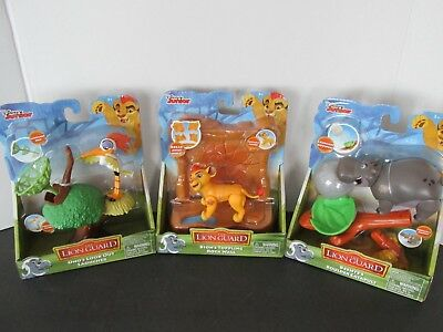Disney Junior The Lion Guard Figures and Accessories Set Of 3 New In Boxes
