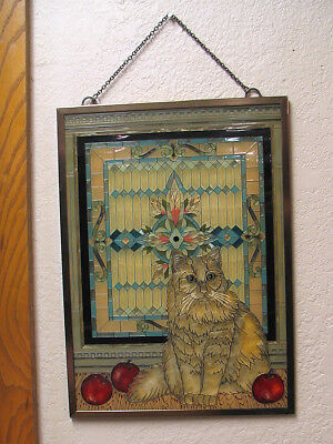 AMIA hand painted cat sun catchers.  2 different items.