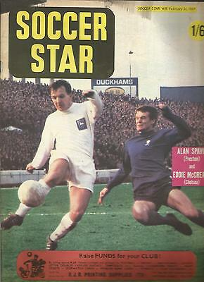 SOCCER STAR MAGAZINE February 21 1969 Cover picture Chelsea Eddie McGreadie.
