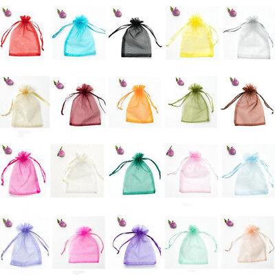 20/50PC Organza Bags Jewellery Storage Pouches Party Mesh Drawstring Gift Making