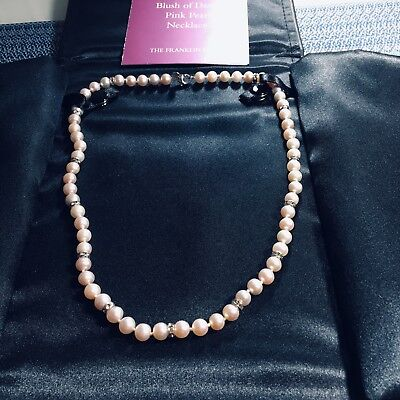 Shakira Caine Designer The Blush of Dawn Pink Pearl Necklace by Franklin Mint
