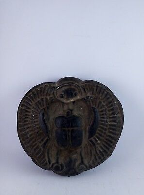 ANCIENT EGYPTIAN ANTIQUE EGYPT Scarab Beetle Scarabs Carved Stone 600 Bc