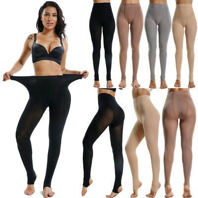 Womens High Waist Opaque Tights Stretchy Footed Pantyhose Winter Autumn Hosiery