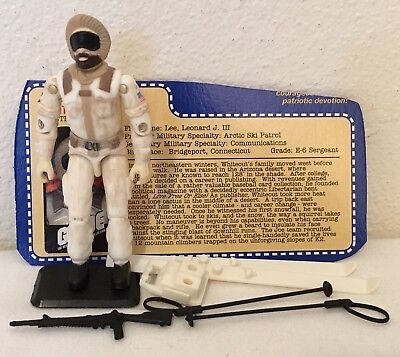 GI Joe 2000 Whiteout V1 Complete the real american hero collection snow job