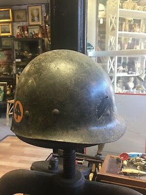 Original WWII US Army  helmet liner 44th Infantry Division