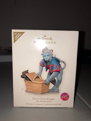 Hallmark Keepsake Toto's Great Escape The Wizard Of Oz Ornament 2007 Nib Limited