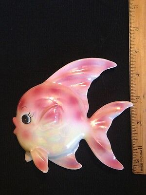 Vintage Fish Wall Plaque G/W Vintage Mermaid