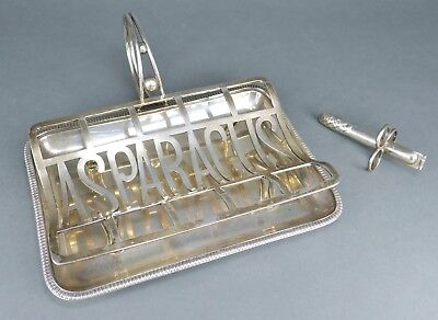 Fine Antique Victorian Silver Plate Mappin & Webbs ASPARAGUS Server Serving Tray