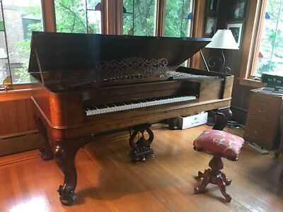 1867 Steinway & Sons Rosewood Square Grand Piano