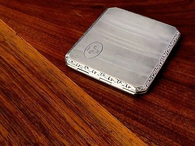 Continental 830 Silver Cigarette Case Machine Engraved