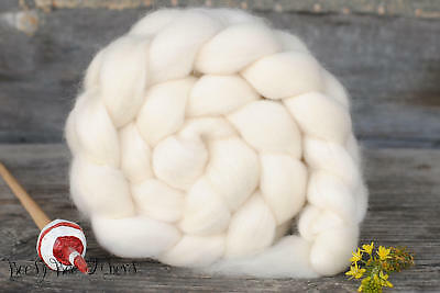 BFL Undyed Wool Roving Natural Ecru White Combed Top Natural Spinning Felting 4
