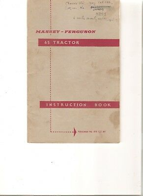 FERGUSON 65 TRACTOR INSTRUCTION BOOK ................ ORIGINAL MANUAL (64 pages)