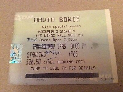 Rare David Bowie & Morrissey Ticket Kings Hall 1995 Postponed Only Time Belfast