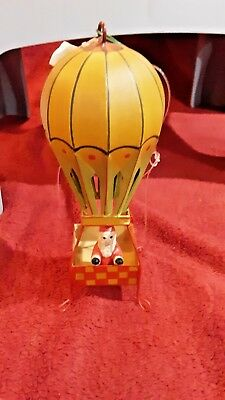 Dept 56  Santa in Hot Air Balloon Metal Ornament