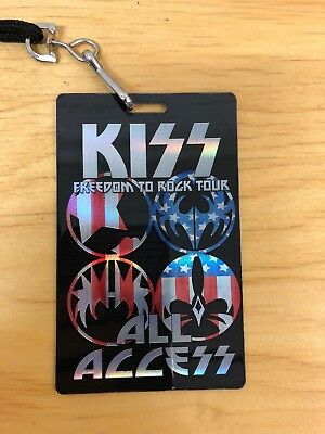 Kiss Freedom To Rock Tour All Access Laminate