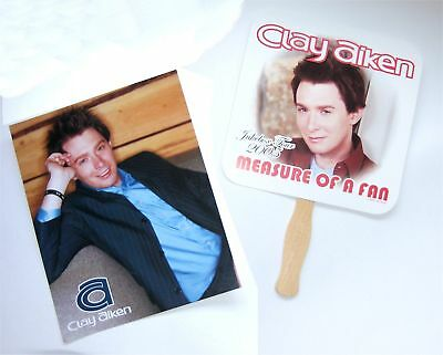 CLAY AIKEN! MEASURE OF A FAN 8 x 10 PIC & FAN NEW ORIG