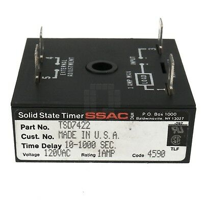 SSAC TSD7422 Solid State Timer-Interval/Delay-on-Break, 1 Amp, 120VAC 10-1000sec