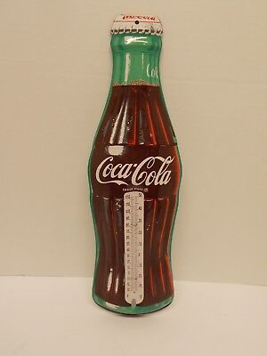 Reproduction Pressed-Tin Embossed Coca~Cola Bottle Thermometer