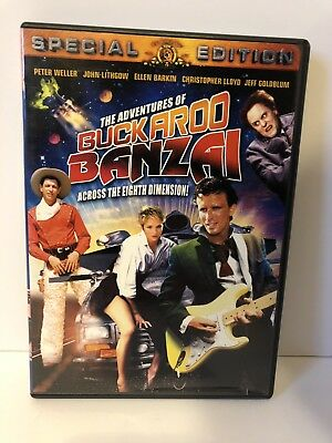 The Adventures of Buckaroo Banzai Across the Eighth Dimension DVD with Insert