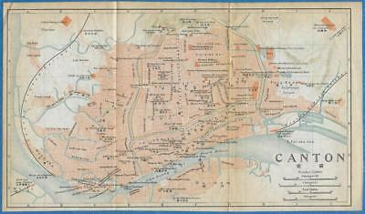 1915 IMPERIAL JAPANESE RAILWAY MAP of CANTON CHINA