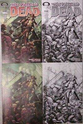 Walking Dead #1 15th Anniversary Day Finch 4 Cover Set Lot (Image 2018) NEW