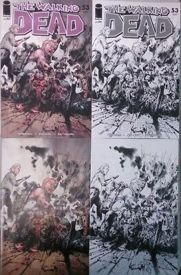 Walking Dead #53 15th Anniversary Day Jung Gi 4 Cover Set Lot (Image 2018) NEW