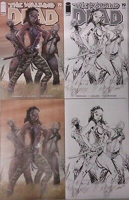 Walking Dead #19 15th Anniversary Day Campbell 4 Cover Set Lot (Image 2018) NEW