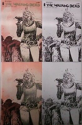 Walking Dead #132 15th Anniversary Day Wood 4 Cover Set Lot (Image 2018) NEW
